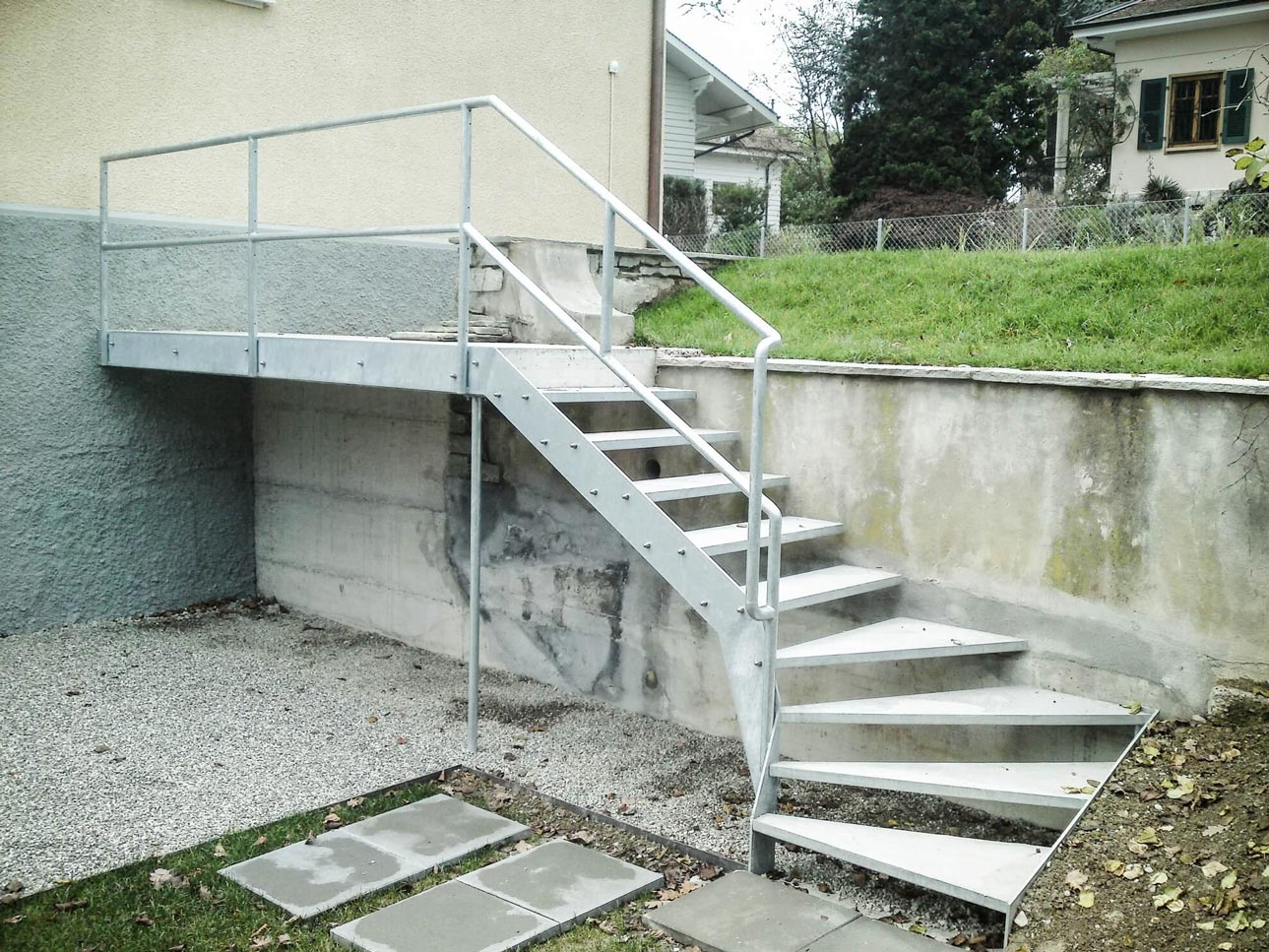 Escalier galvanisé