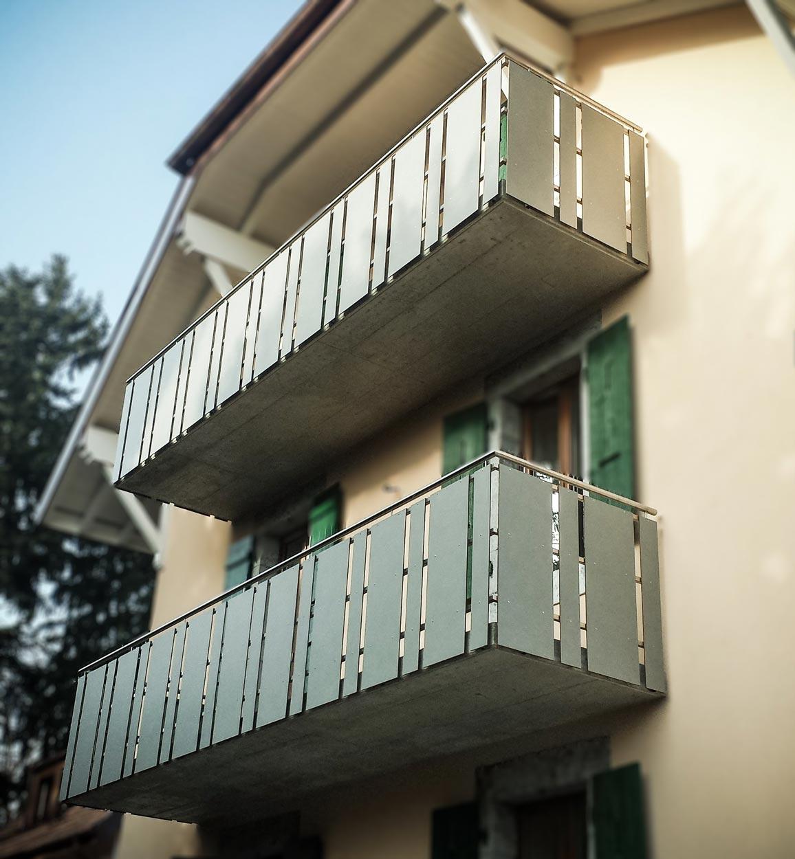 Garde-corps de balcon en inox et composites