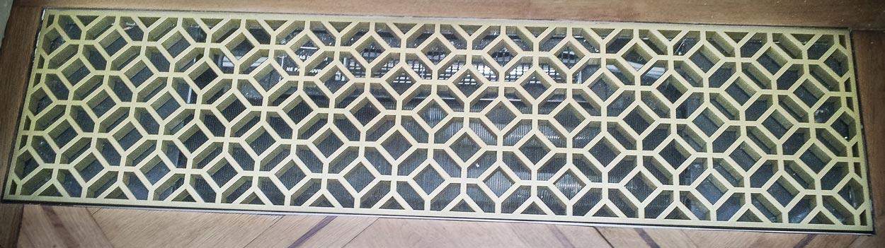 Plaque en laiton massif pour chauffage au sol