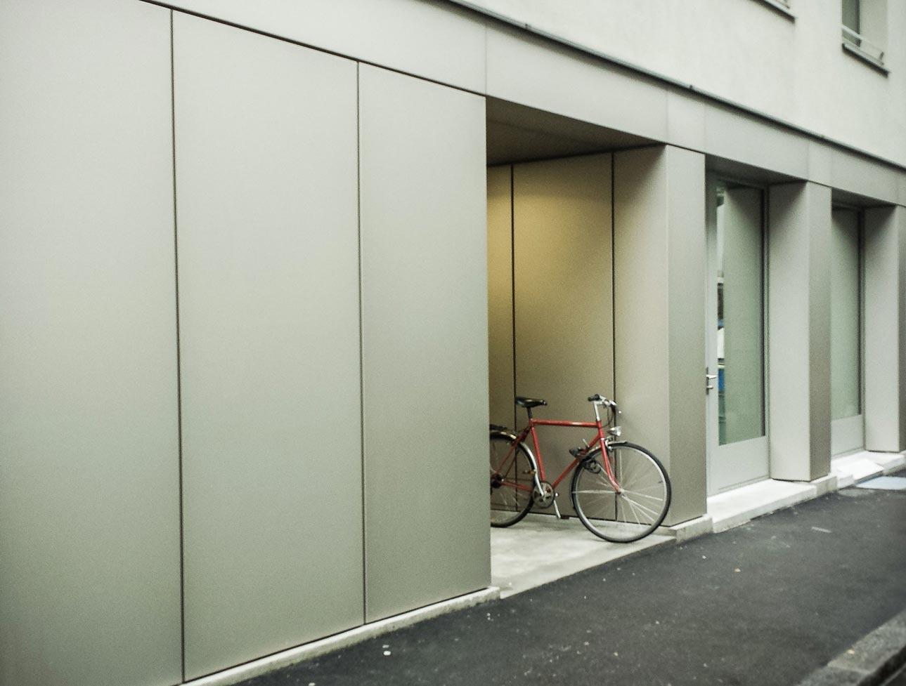 Habillage de façade en aluminium éloxé