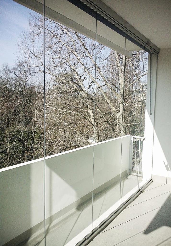 Vitrages pour fermeture de balcon
