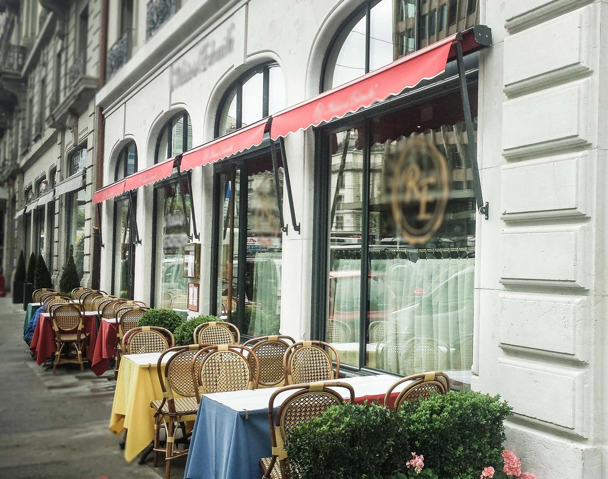 Vitrines isolantes de restaurant